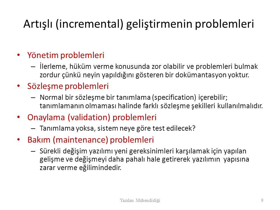 Artışlı (incremental) geliştirmenin problemleri