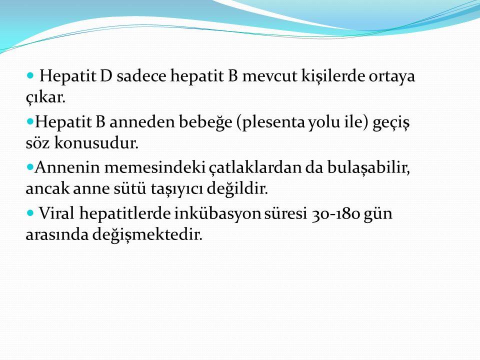 Hepatit D sadece hepatit B mevcut kişilerde ortaya çıkar.