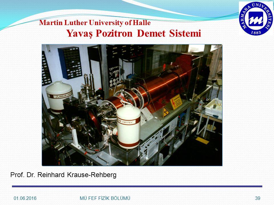 Martin Luther University of Halle Yavaş Pozitron Demet Sistemi