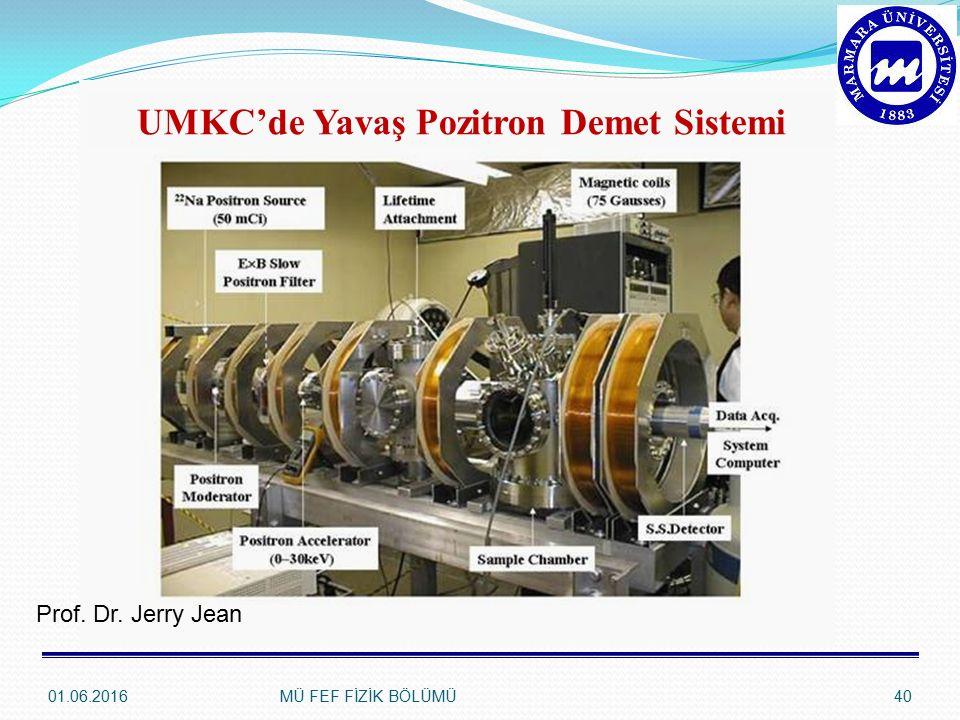 UMKC'de Yavaş Pozitron Demet Sistemi