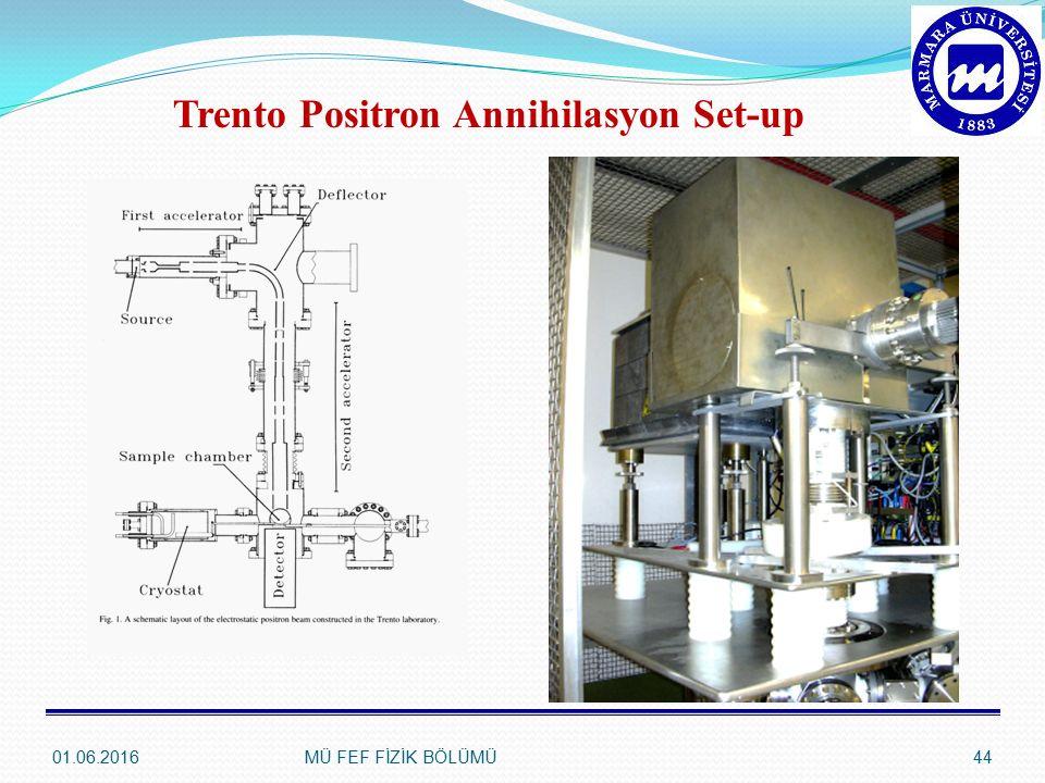 Trento Positron Annihilasyon Set-up