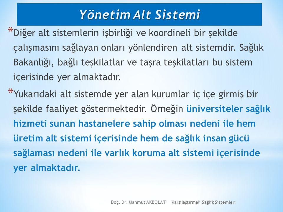 Yönetim Alt Sistemi