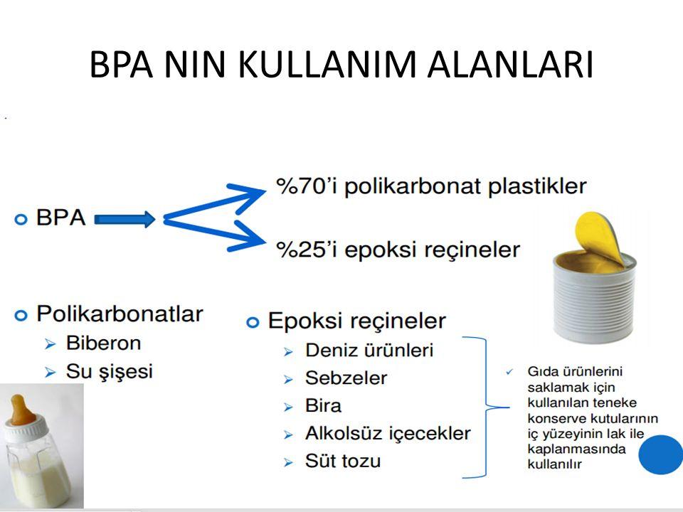 BPA NIN KULLANIM ALANLARI