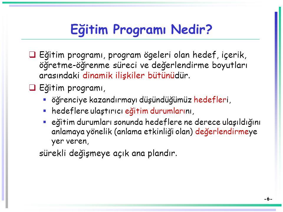 Eğitim Programı Nedir