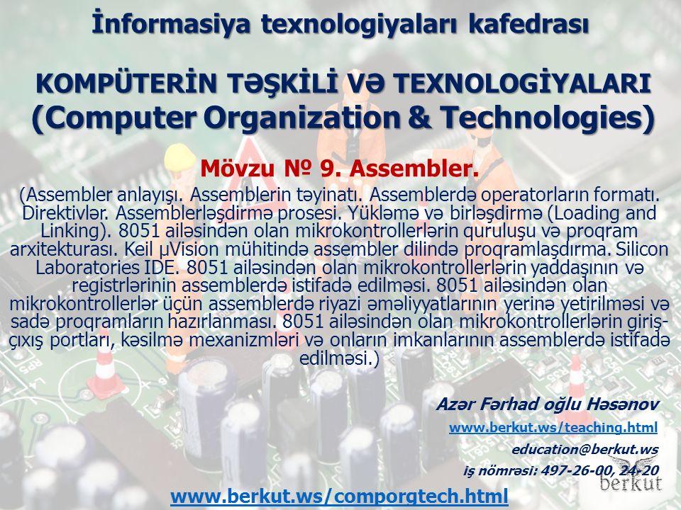 İnformasiya texnologiyaları kafedrası