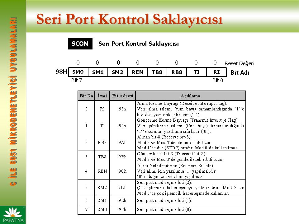 Seri Port Kontrol Saklayıcısı