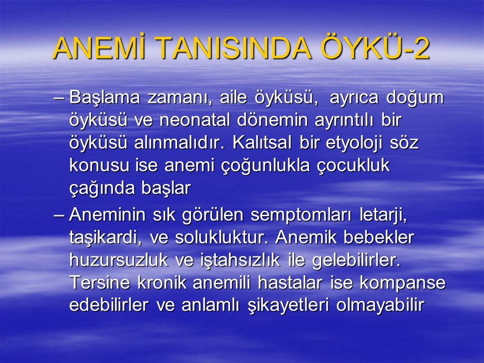 ANEMİ TANISINDA ÖYKÜ-2
