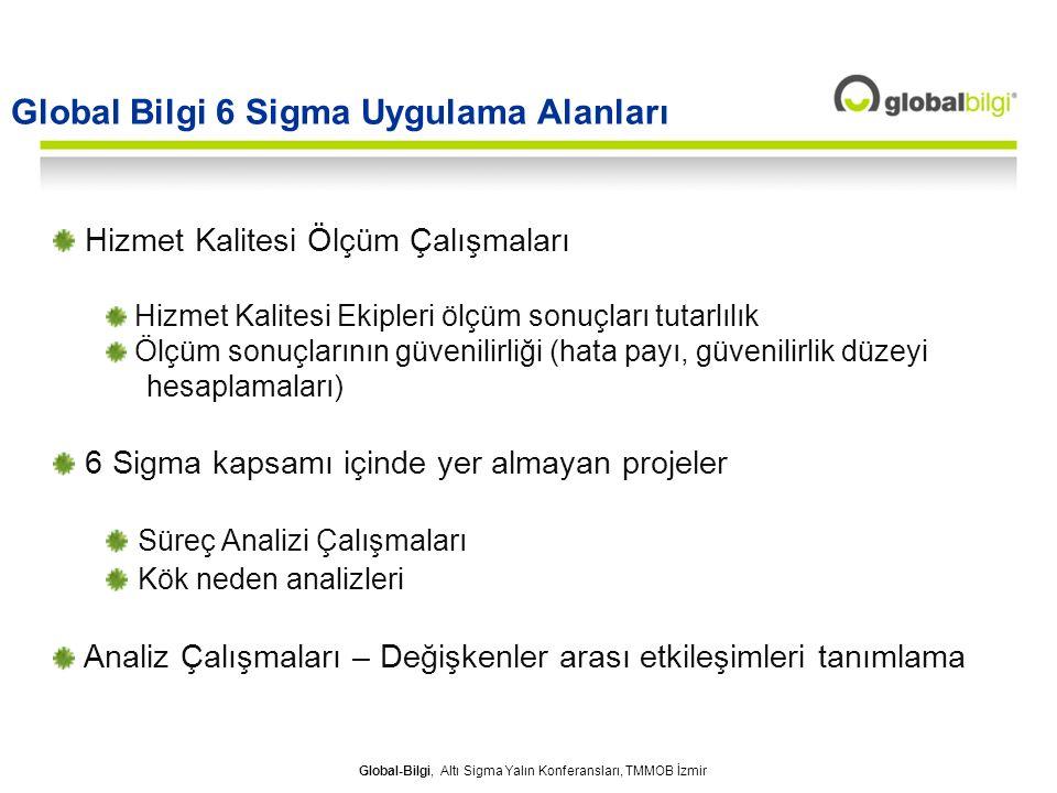 Global Bilgi 6 Sigma Uygulama Alanları