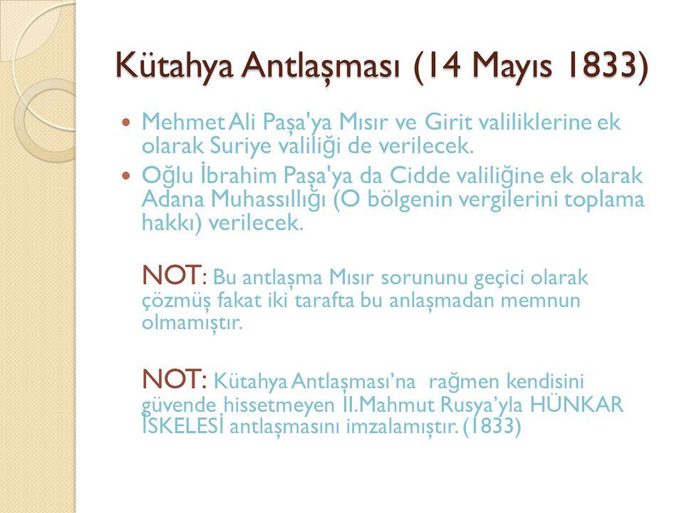 Kütahya Antlaşması (14 Mayıs 1833)