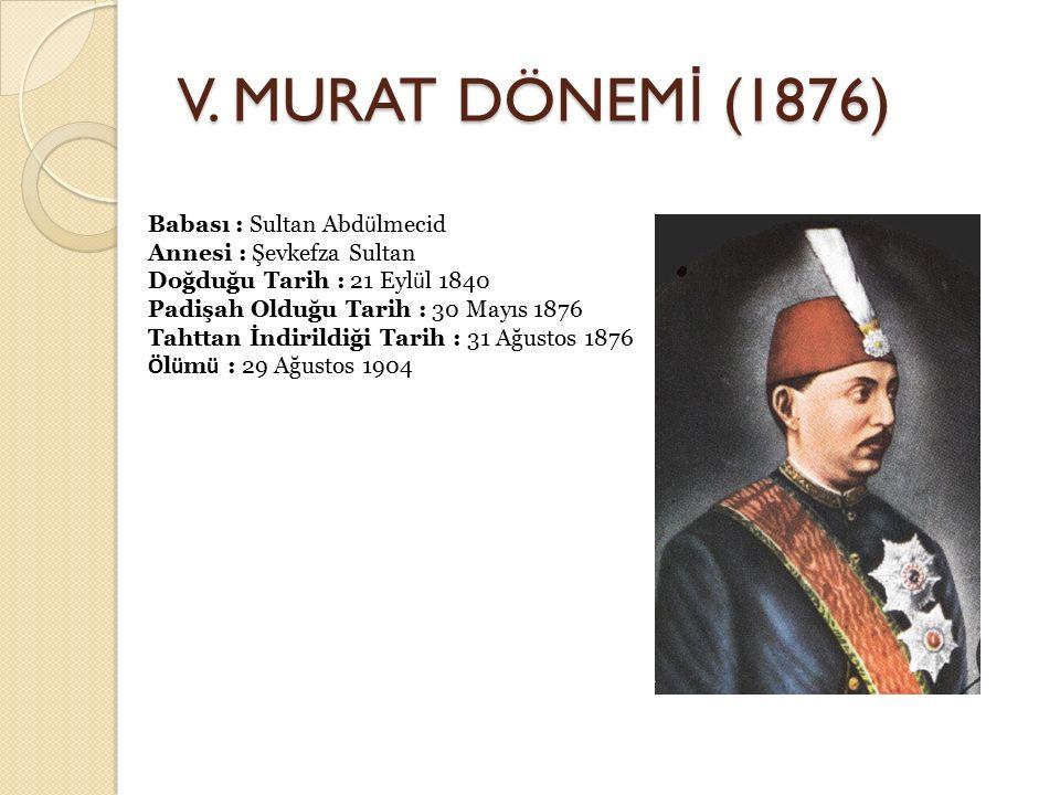 V. MURAT DÖNEMİ (1876)
