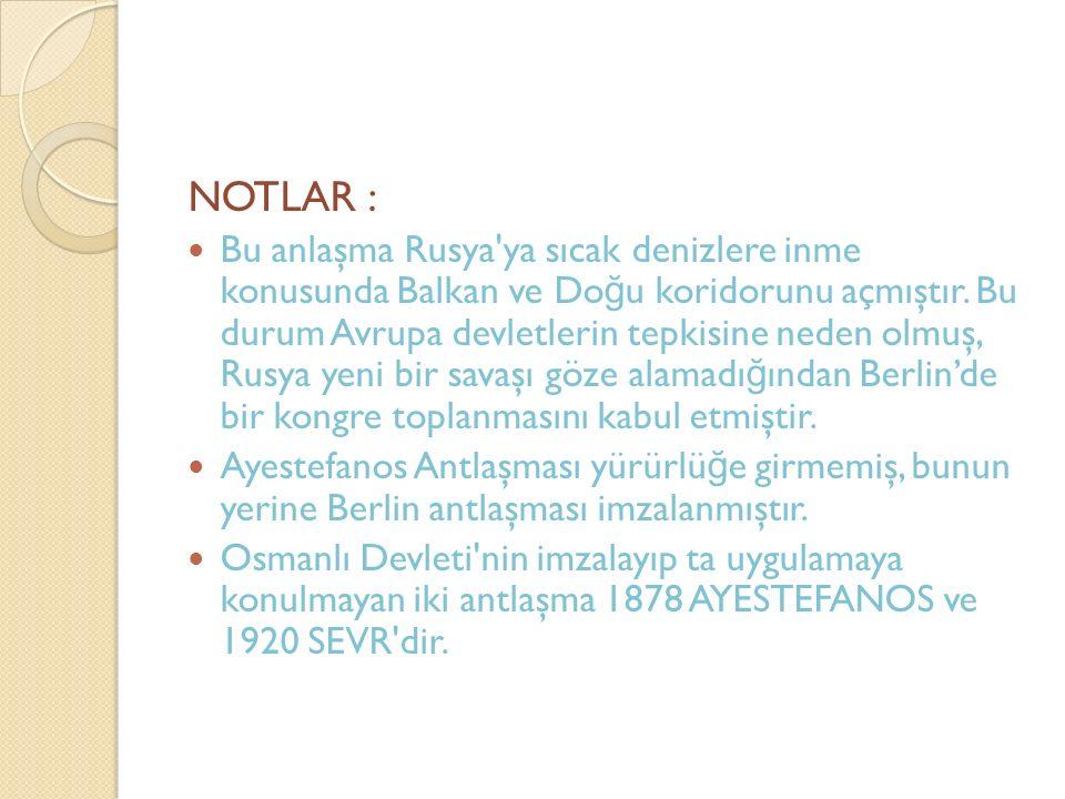 NOTLAR :