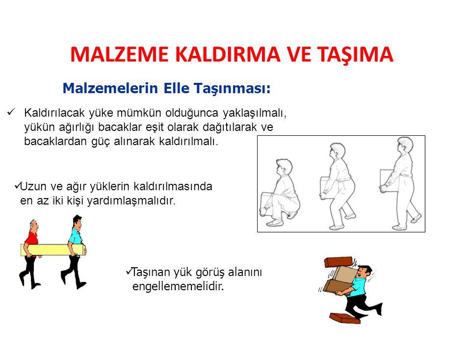 MALZEME KALDIRMA VE TAŞIMA