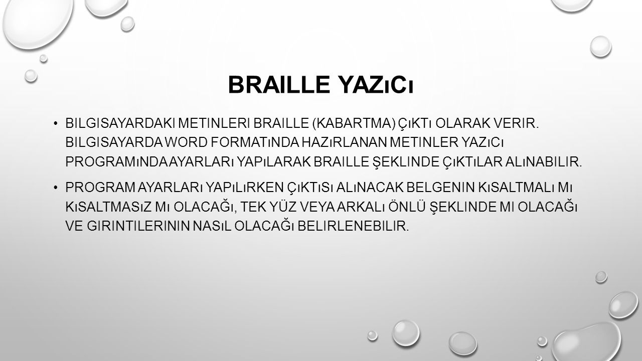 Braille Yazıcı