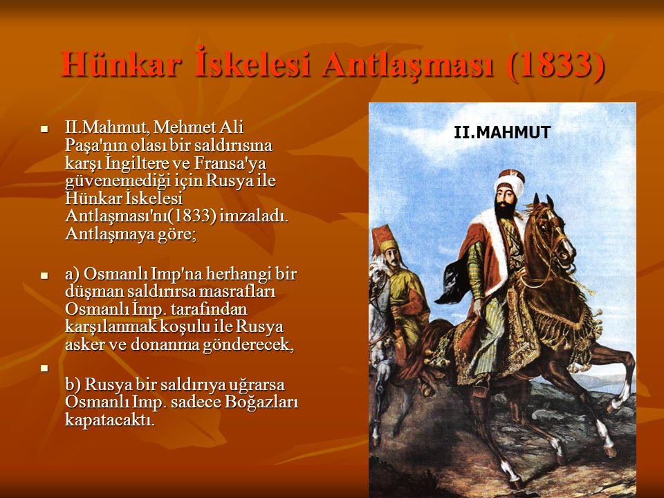 Hünkar İskelesi Antlaşması (1833)