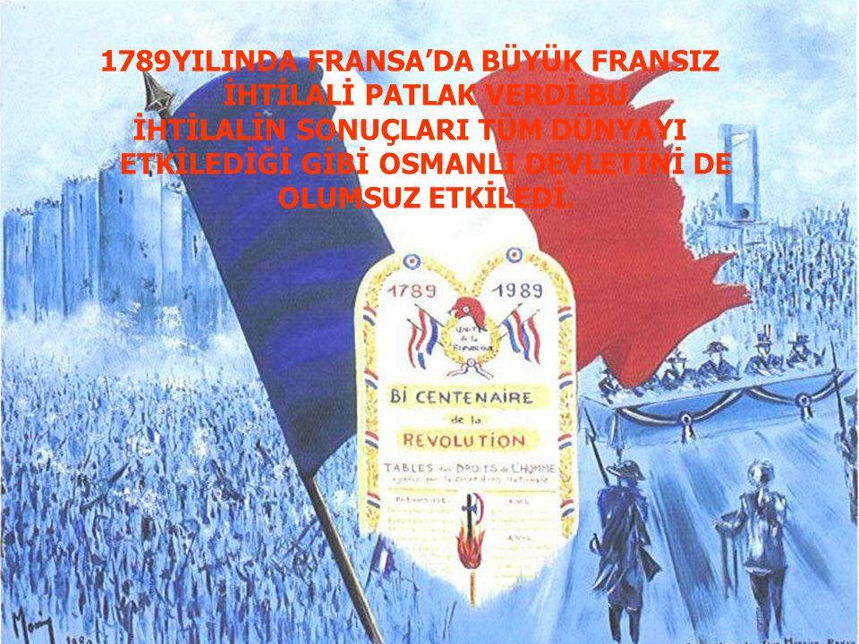 YILINDA FRANSA'DA BÜYÜK FRANSIZ İHTİLALİ PATLAK VERDİ.BU