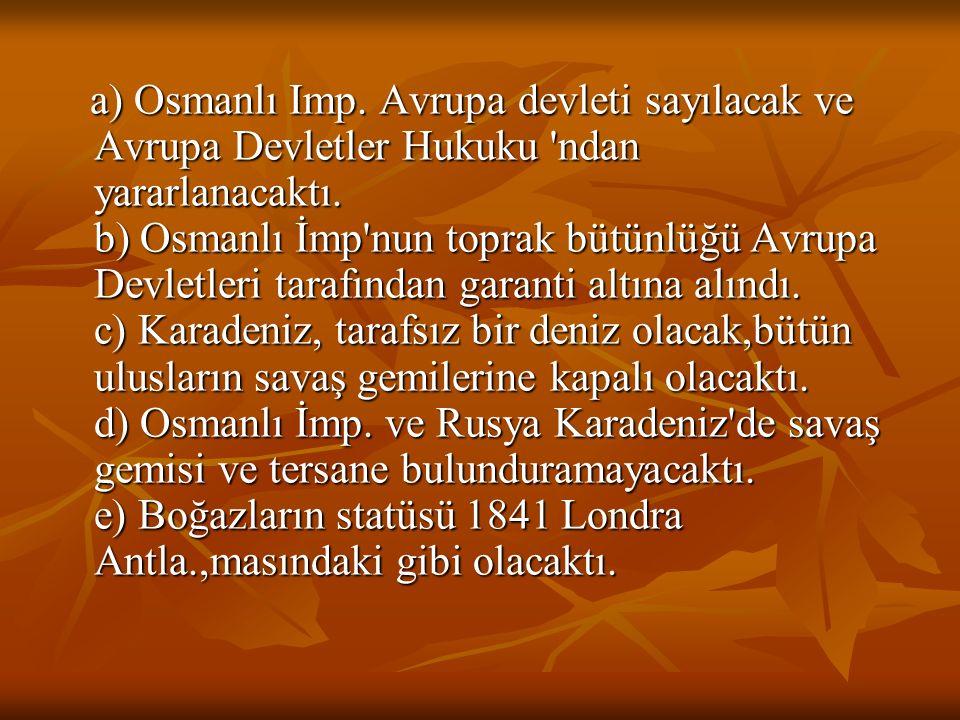 a) Osmanlı Imp.