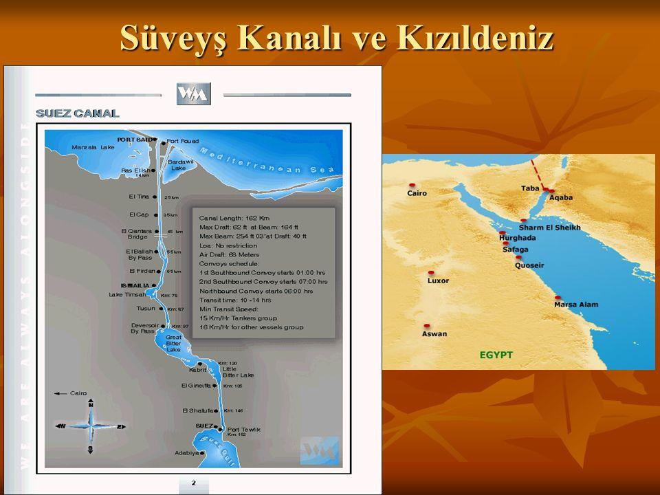 Süveyş Kanalı ve Kızıldeniz