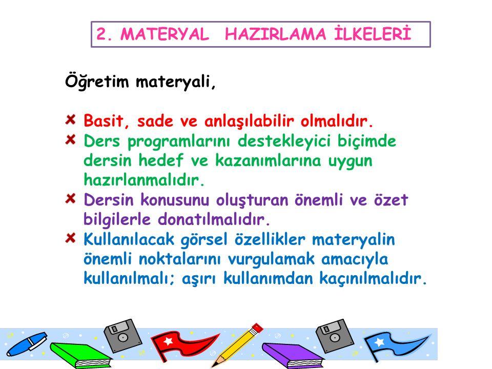 2. MATERYAL HAZIRLAMA İLKELERİ