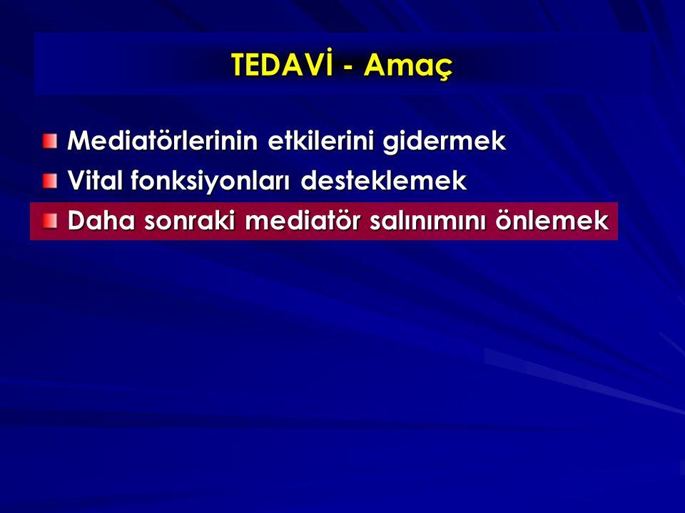 TEDAVİ - Amaç Mediatörlerinin etkilerini gidermek