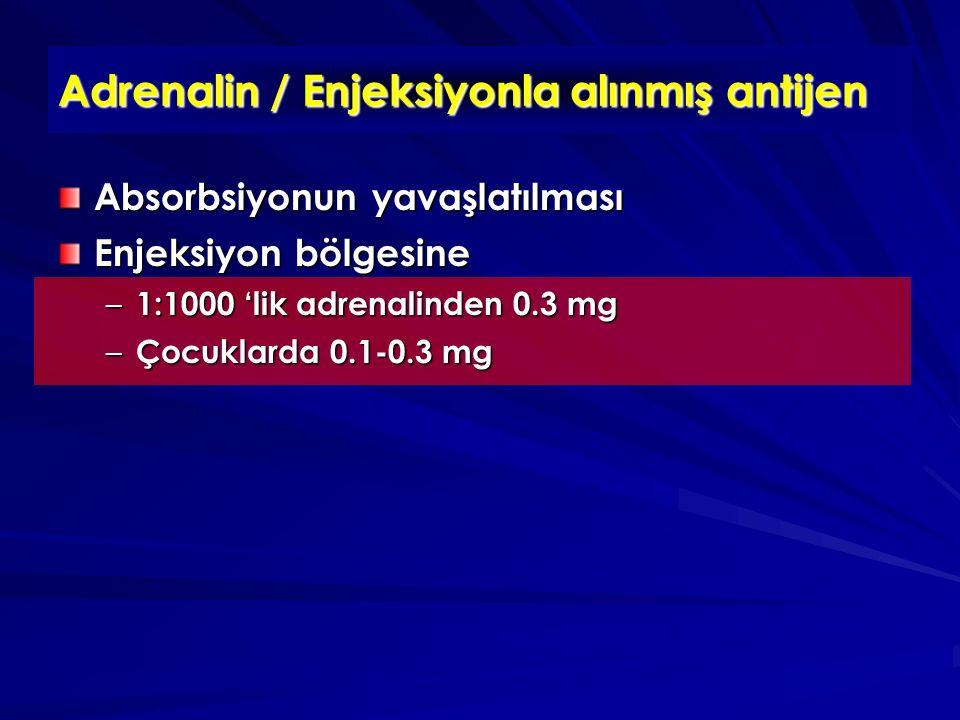 Adrenalin / Enjeksiyonla alınmış antijen
