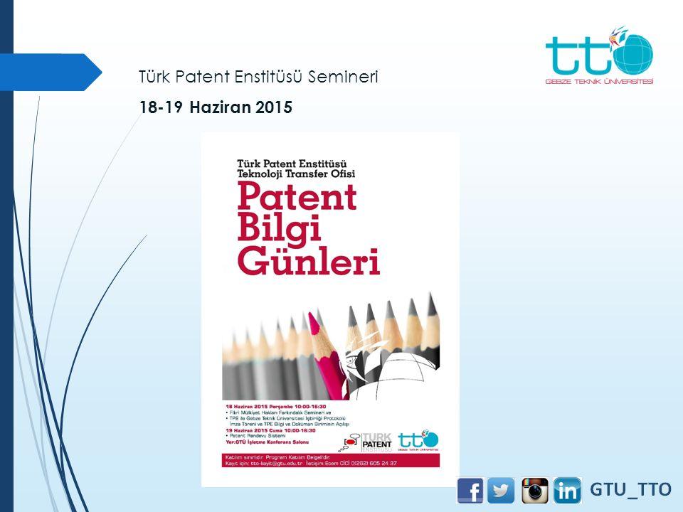Türk Patent Enstitüsü Semineri
