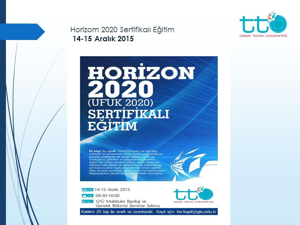 Horizom 2020 Sertifikalı Eğitim