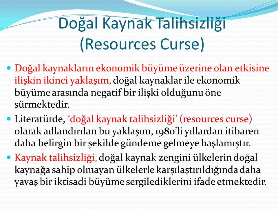Doğal Kaynak Talihsizliği (Resources Curse)