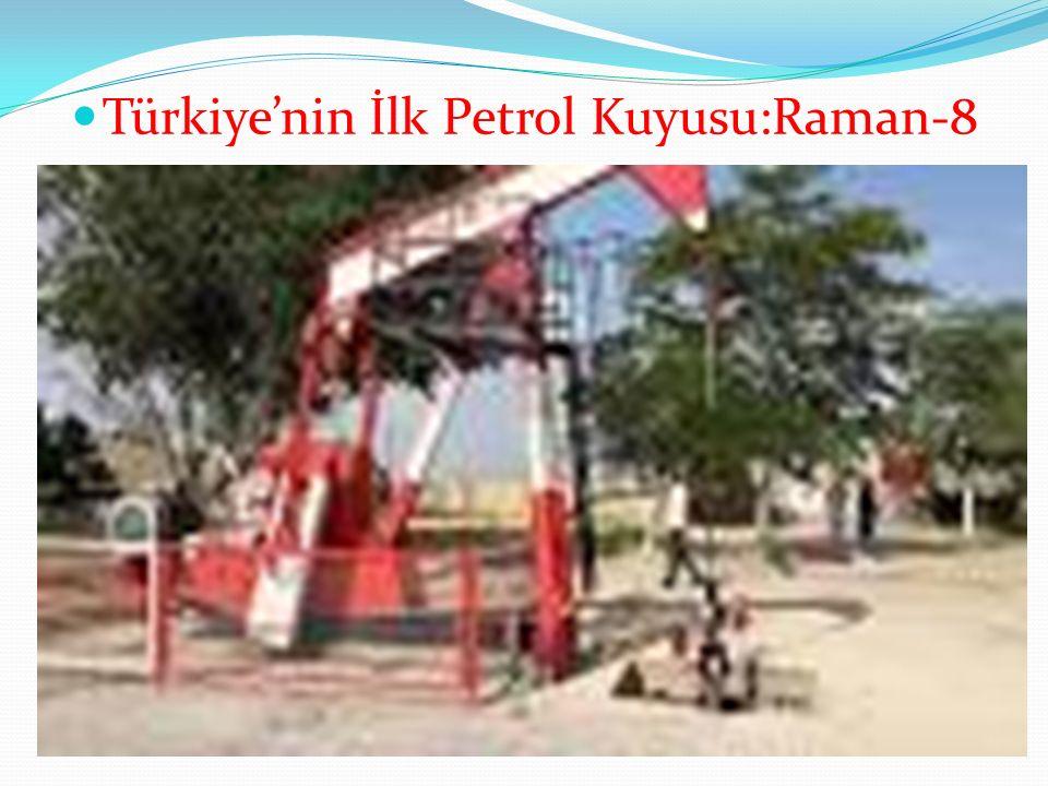Türkiye'nin İlk Petrol Kuyusu:Raman-8