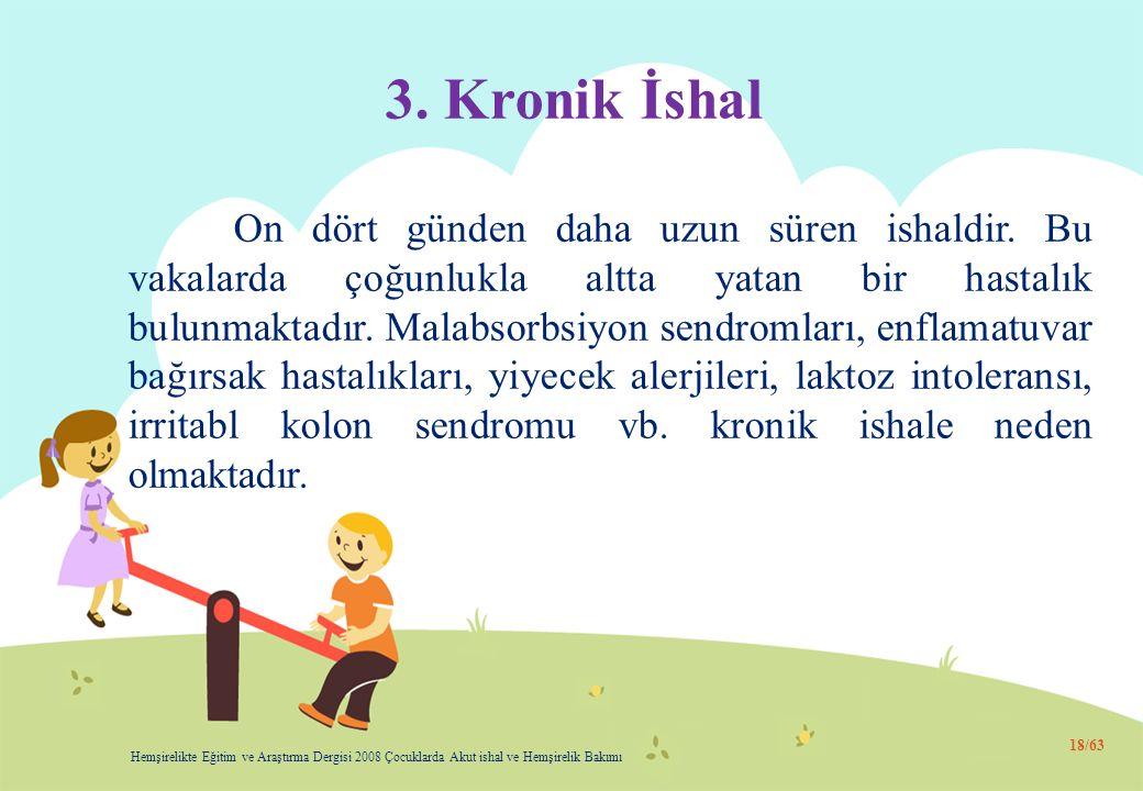 3. Kronik İshal