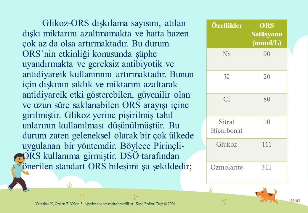 ORS Solüsyonu (mmol/L)