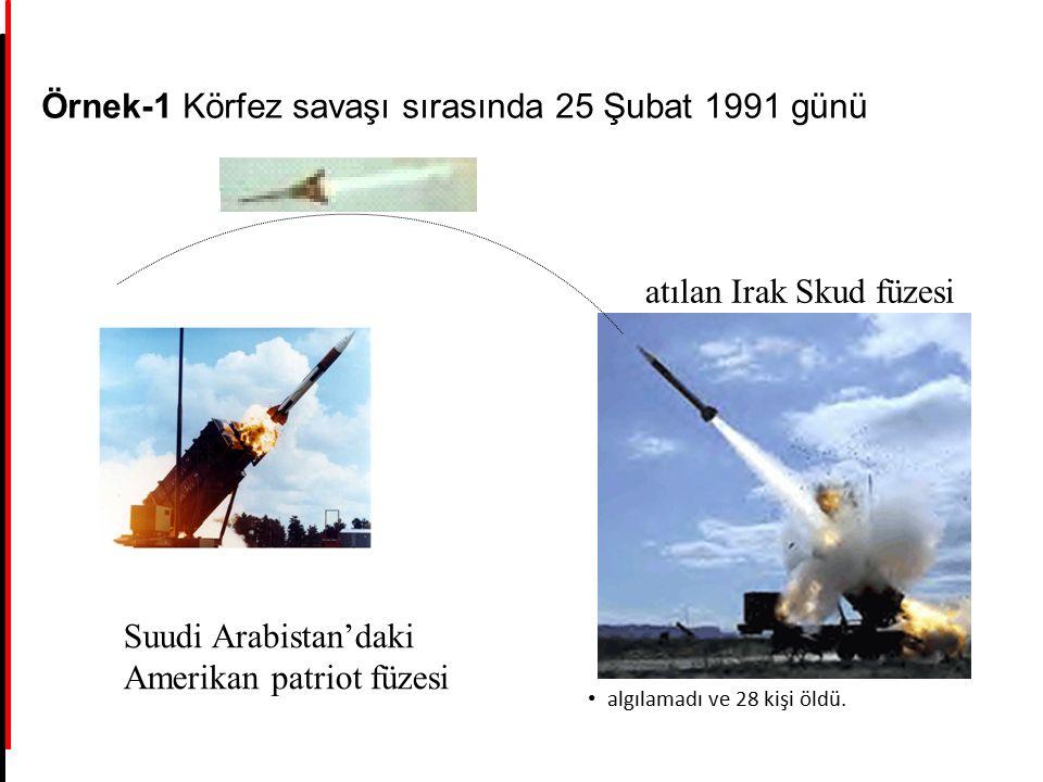 Örnek-1 Körfez savaşı sırasında 25 Şubat 1991 günü