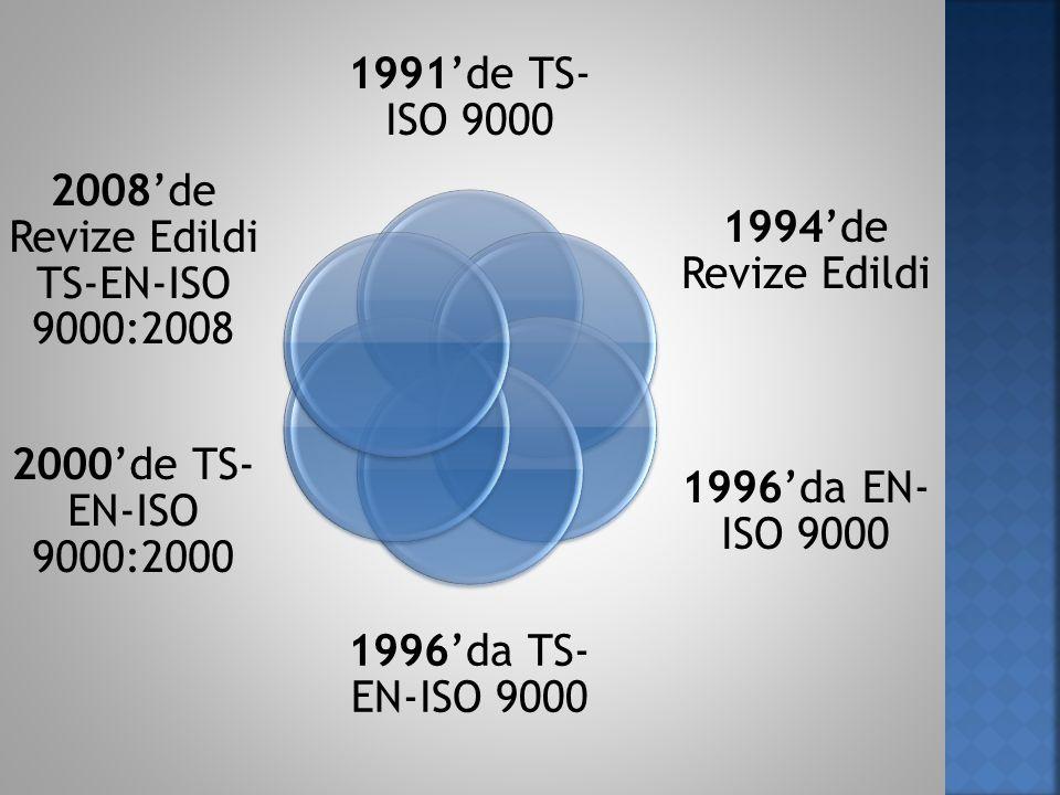2008'de Revize Edildi TS-EN-ISO 9000:2008