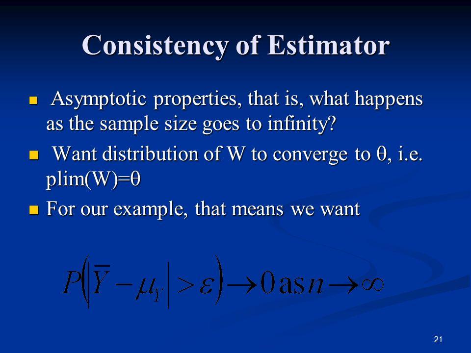 Consistency of Estimator