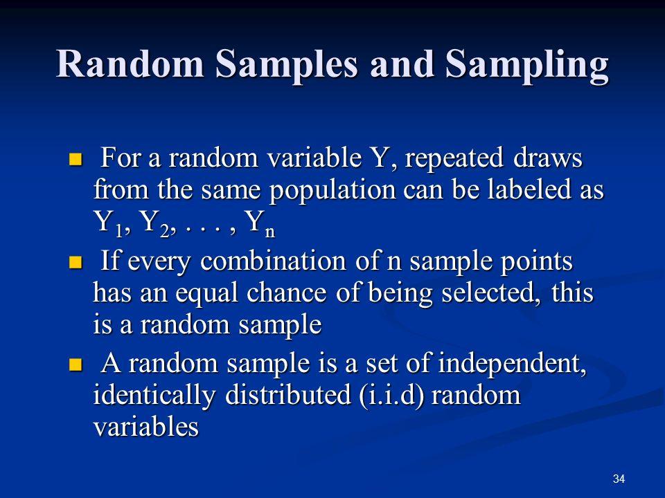 Random Samples and Sampling