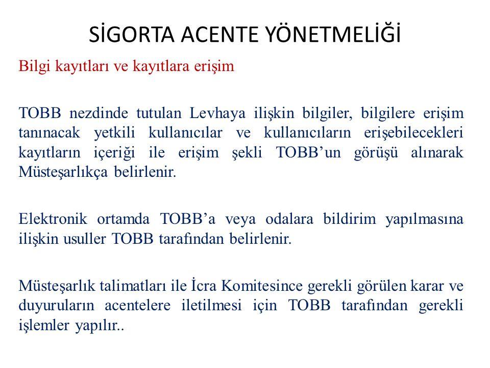 SİGORTA ACENTE YÖNETMELİĞİ