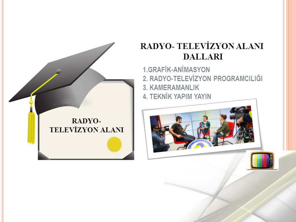 RADYO- TELEVİZYON ALANI RADYO- TELEVİZYON ALANI