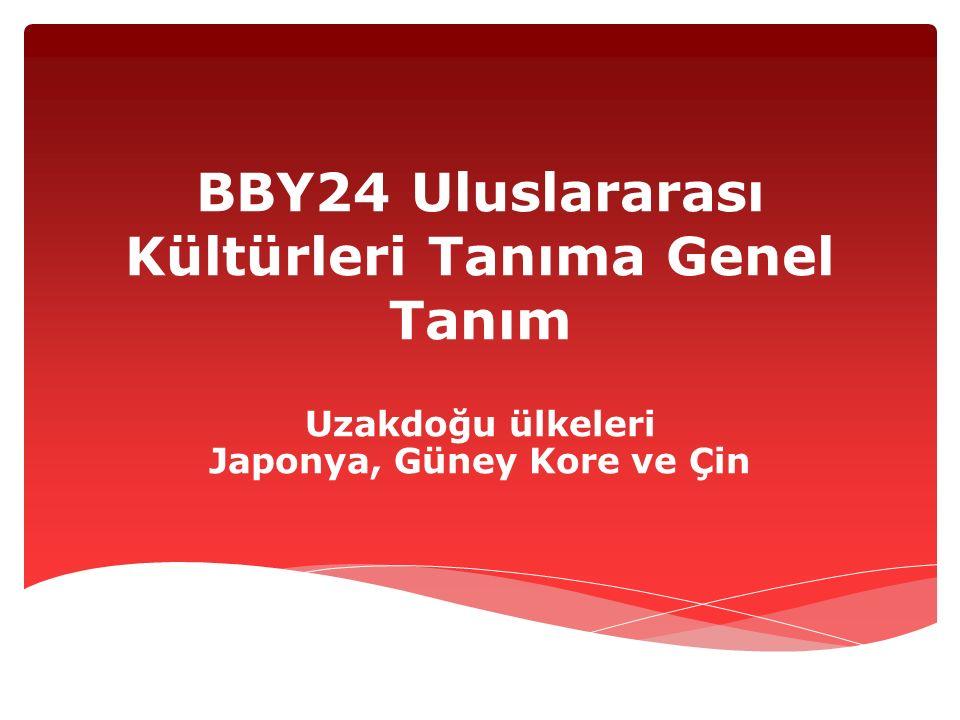 BBY24 Uluslararası Kültürleri Tanıma Genel Tanım