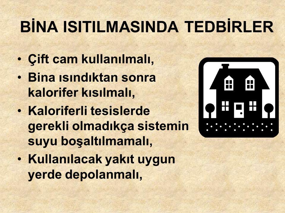 BİNA ISITILMASINDA TEDBİRLER