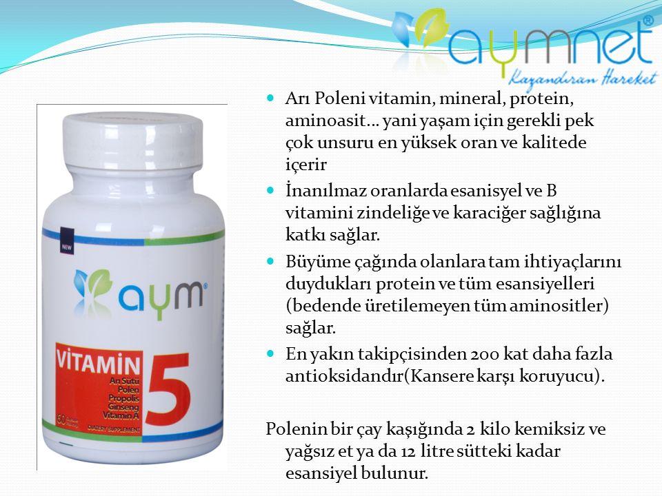 Arı Poleni vitamin, mineral, protein, aminoasit