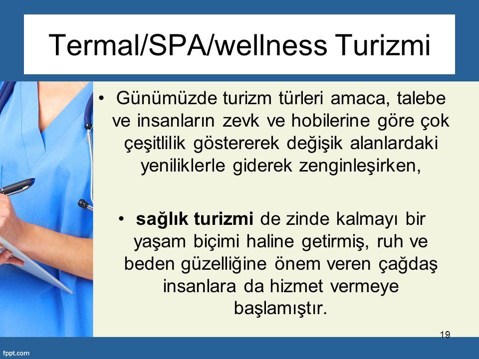 Termal/SPA/wellness Turizmi