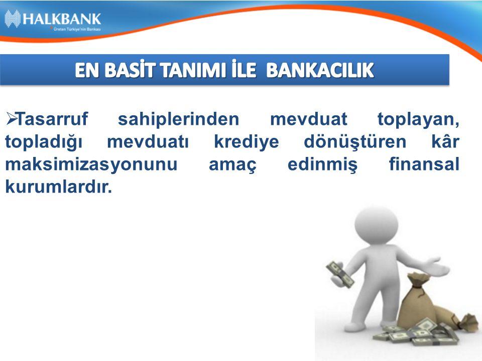 TÜRKİYE'DE BANKACILIK SEKTÖRÜNÜN ÖNEMİ