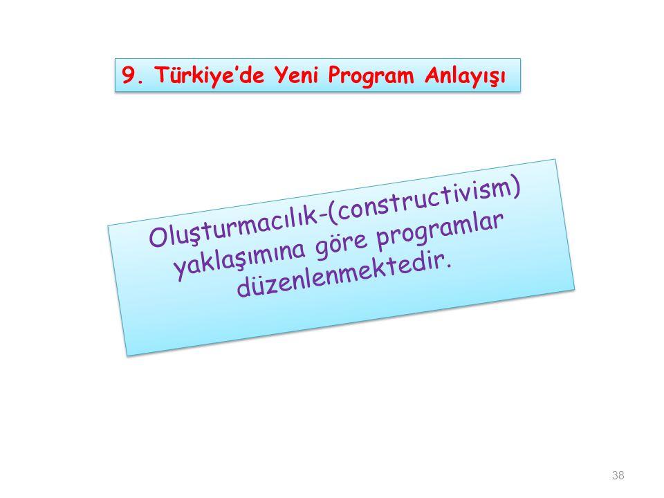 9. Türkiye'de Yeni Program Anlayışı