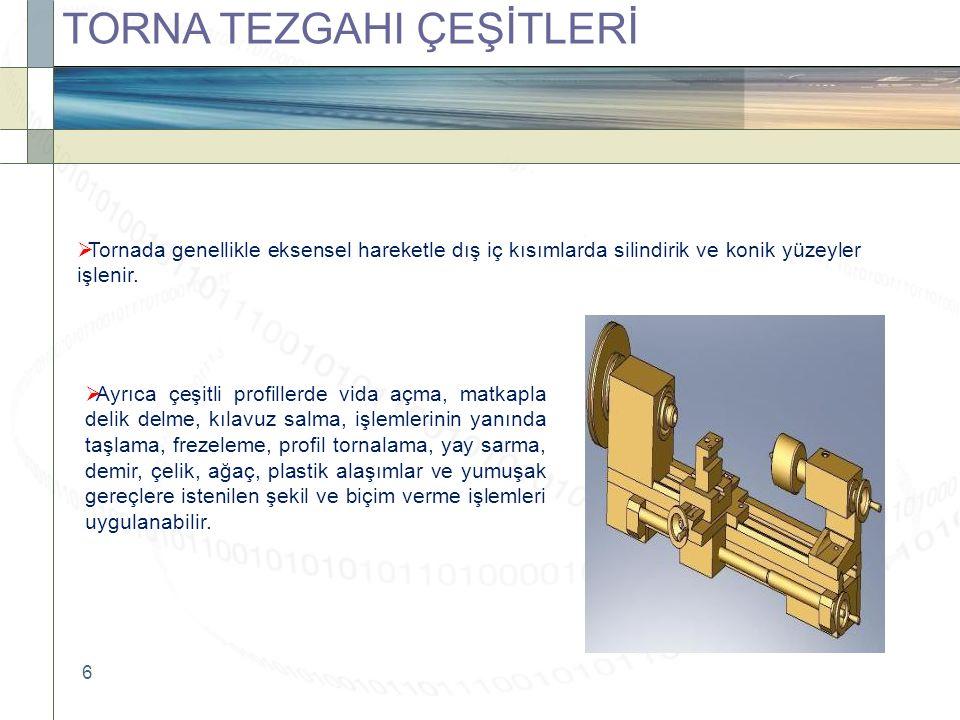 TORNA TEZGAHI ÇEŞİTLERİ
