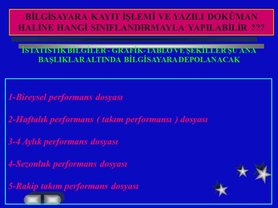1-Bireysel performans dosyası