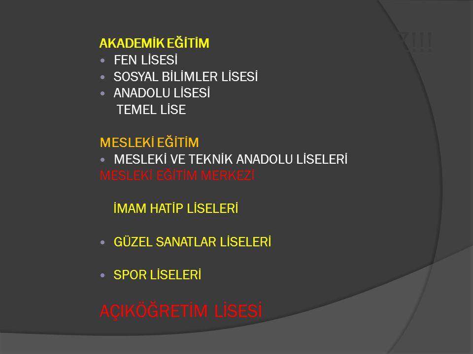BİR YOL AYRIMINDASINIZ!!!