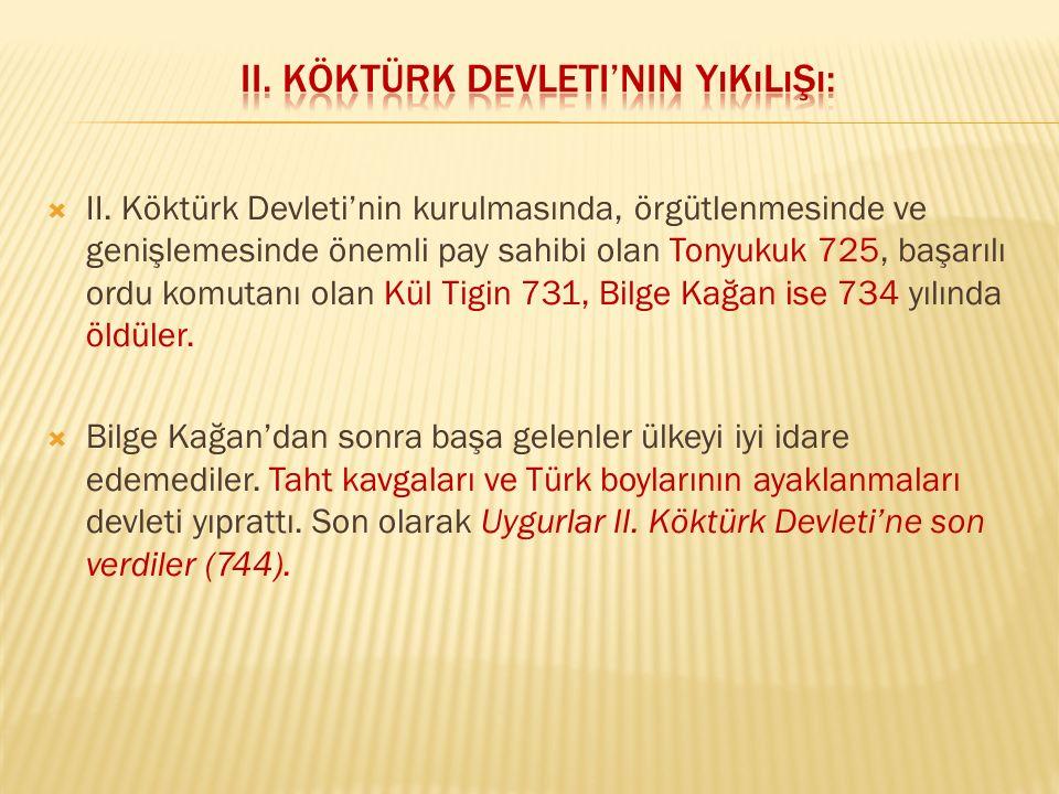 II. Köktürk Devleti'nin Yıkılışı: