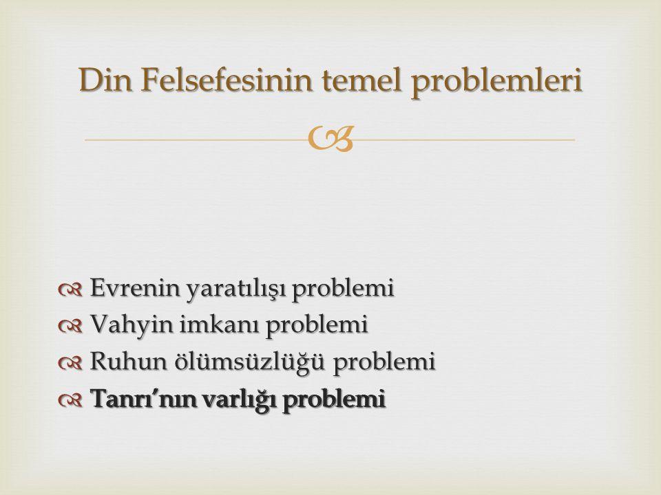 Din Felsefesinin temel problemleri