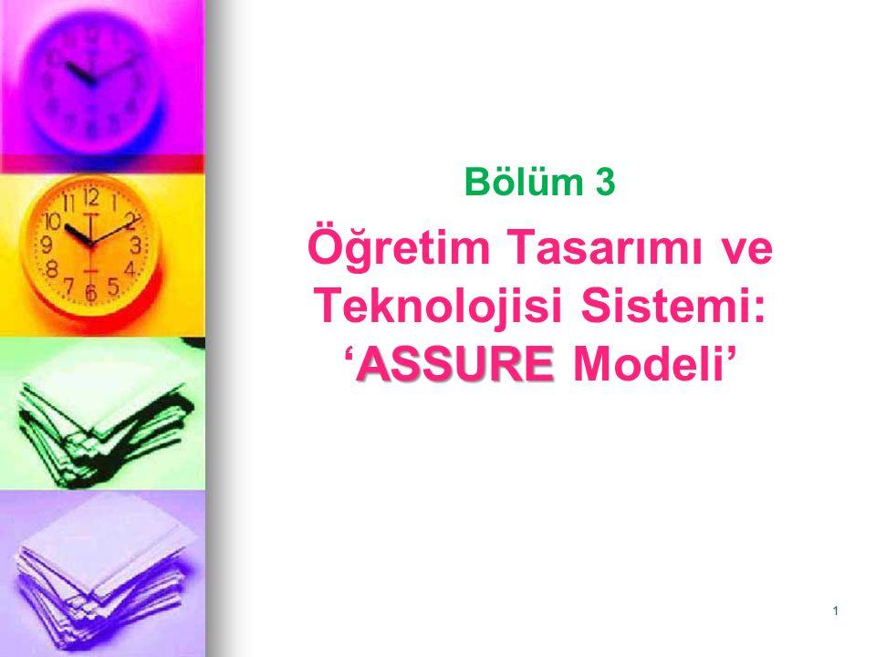 Öğretim Tasarımı ve Teknolojisi Sistemi: 'ASSURE Modeli'
