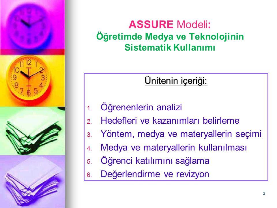 ASSURE Modeli: Öğretimde Medya ve Teknolojinin Sistematik Kullanımı
