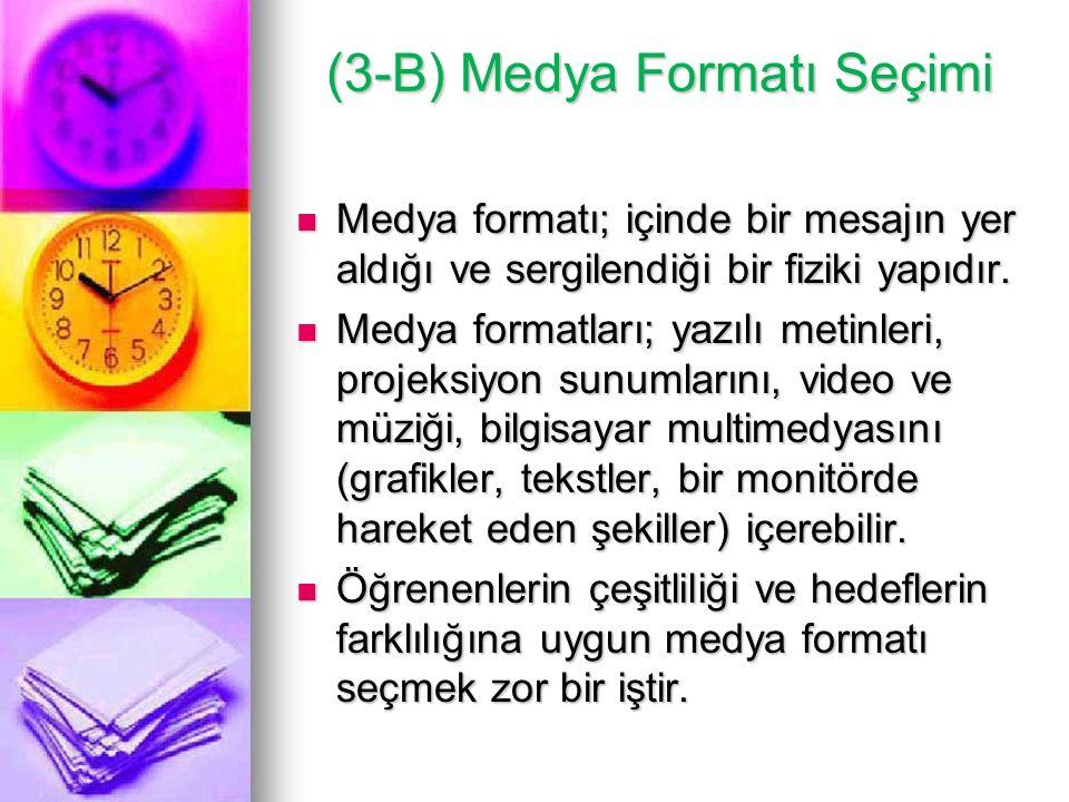 (3-B) Medya Formatı Seçimi